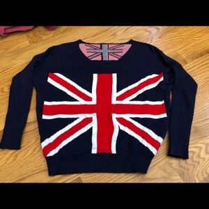 Sweaters - English Union Jack Flag Pullover Sweater Top